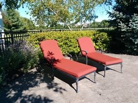 Frontgate lounge chairs w/cushions