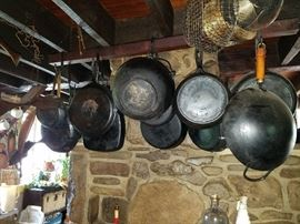 Wide variety of wrought iron pans