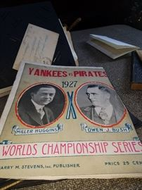 Damaged 1927 World Series program