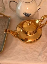 Limoges Teapot- Gold Plated