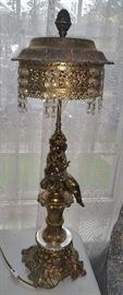 Brass lamp (pair)