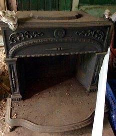 Cast iron stove fireplace