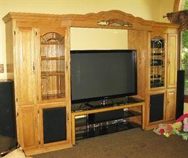 huge oak entertainment center