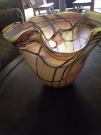 Gorgeous art glass bowl