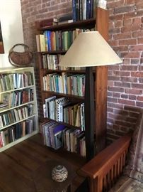 Six wooden higher quality bookcases. Cannot be removed until Sunday.