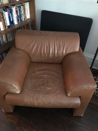 1980's leather chair