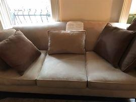 Lazar ultrasuede sofa