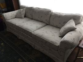 BUY IT NOW - Lot # 104  Traditional sofa in off-white; very clean. $200