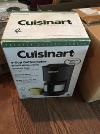 Brand new in box - Cuisinart 4 cup coffee pot