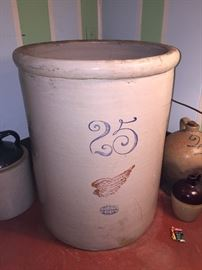 WOW!  What a find! 25 gallon Red Wing crock in really good condition.