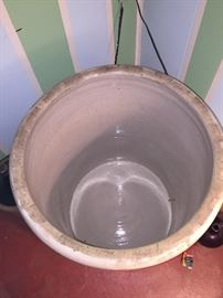 WOW!  What a find! 25 gallon Red Wing crock in really good condition.  No chips that we could see.