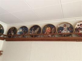 Large collection of Norman Rockwell collectors plates