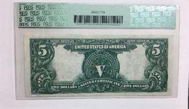 1899 $5 One Papa Chief Silver Certificate Raree