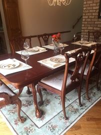 Chippendale Chairs Dining Room Set