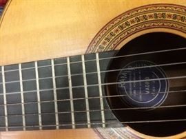 Intricate inlay on guitar..see label in the interior...Jose Ramirez classical guitar...Brazilian rosewood..1974...