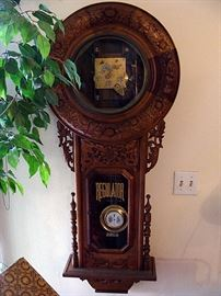 Large carved clock