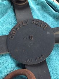 Grizzy Bear  Trap no 6 patent date 1856