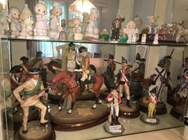 Many collectibles including Royal Doulton SOLDIERS OF THE REVOLUTION set of 13 figurines