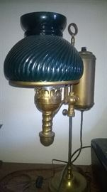Antique Oil lamp converted to electric