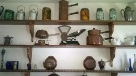 More antiques and collectables, scale, copper, cobalt