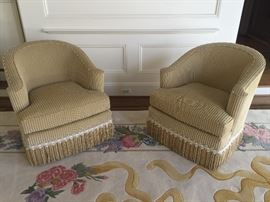 Quality pair SWIVEL CHAIRS