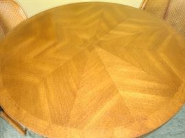 Mid Century Solid Wood Pedistal Table (TOP View)~Gorgeous Detail & in Excellent Condition!