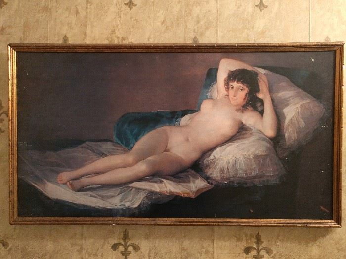 Look at this little vixen! She's hanging on the wall and looks as if she could use a cigarette!