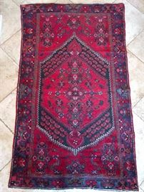 "Vintage Persian Kurdish Bidjar rug, 100% wool face, hand woven, measures 3' 9"" x 6' 5""."