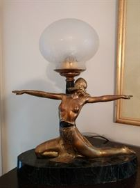 Nice art deco (not repro) desk lamp.