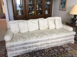 Silk damask Century sofa - matching pair