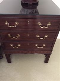 Two matching Henredon night stands (with matching dresser)