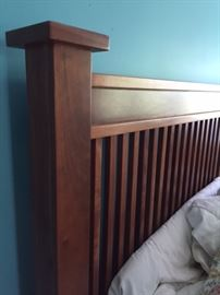 Beautiful, Amish made cherry bedroom set! Two dressers, two side tables and king size bed