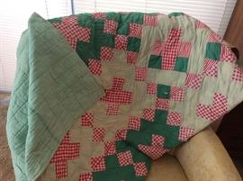 This is red and green, wouldn't this look great as a tablecloth at Christmas!