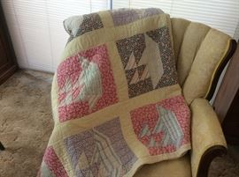 Quilts!  Just amazing and all well cared for and loved.  Excellent shape.