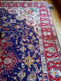 Hand knotted Persian Tabriz 12.10 x 9.11 rug