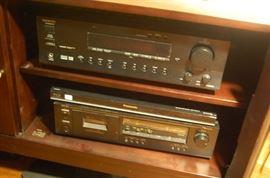 Nakamichi Cassette Deck, Onkyo Stereo AM/FM Amplifier