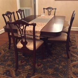 Refurbished Dinning set with 8 chairs