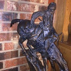 "Bronze ""Montana Man"" by Frederic Remington 27 1/2"" tall"