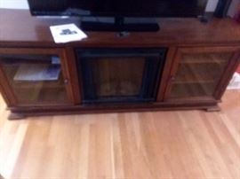 Electric fireplace T.V. credenza stand