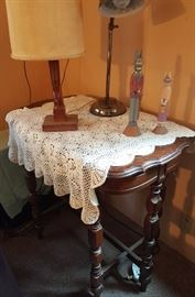 Antique furniture, lamps, collectibles