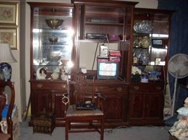 Entertainment Center that can be displayed together or the three sections can be placed in different areas separately