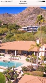 Aerial view of the back of this magnificent property