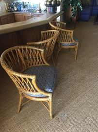 McGuire chairs 3 in silk fabric