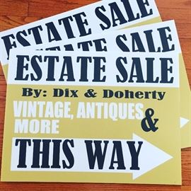 Look for the gold Dix & Doherty signs to guide your way to our upcoming sale in West Harrison! See you there!