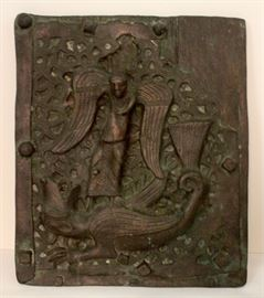 St.Anthony and the Dragon Metal Door Plate replica