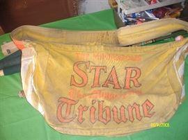 Vintage Star Tribune newspaper carrier bag