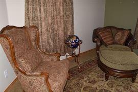 Arm chair Chair and ottoman