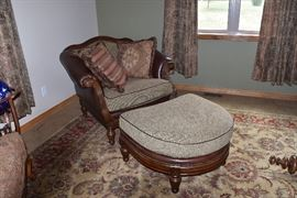 Beautiful chair and ottoman
