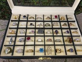 Vintage and Antique Costume and Sterling Silver Jewelry, Rings