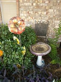 Yard Decor, Decoration, Bird Bath